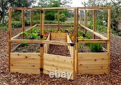 Outdoor Living Today Garden in a Box Raised Bed with Deer Fence Kit 8 x 16 ft