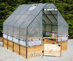 Outdoor Living Today Garden in a Box Raised Bed with Greenhouse Kit 8 x 8 ft