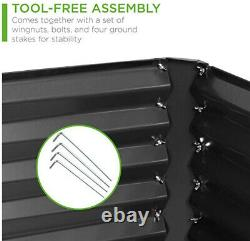 Outdoor Metal Raised Garden Bed, Deep Root Box Planter, 6x3x2ft, NEW, FREE SHIP