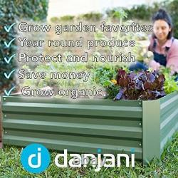 Outdoor Raised Garden Bed with Drop Over Greenhouse Durable, Anti-Rust