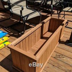Outdoor Raised Garden Planter Bed Elevated Wood Flower Vegetable 6ft L Plant Box