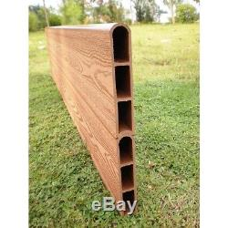 Outdoor Wooden Planter Box Low Maintenance Composite Raised Garden Bed Kit NEW