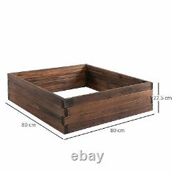 Outsunny Wooden Raised Garden Bed Planter Grow Containers Flower Pot 80 x 80cm