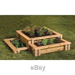 PLANTER WALL BLOCK Raised Garden Bed 7.5 in. X 5.5 in. Tan Brown 24 Pack NEW