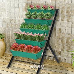 Patio Vertical Herb Planter Garden Flowers Vegetables Boxes Elevated Raised Bed