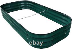 Pintia1 Steel Raised Garden Beds For Vegetables Flowers, Large Outdoor Planter H
