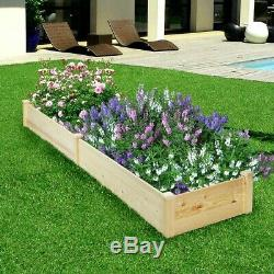 Planter Box Raised Large Garden Bed Wooden Planters For Vegetables Flowers Yard