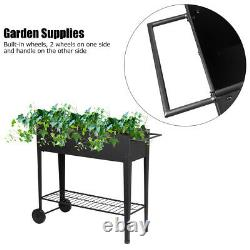 Portable Raised Elevated Garden Bed Planter Box Kit Vegetables Outdoor Plant