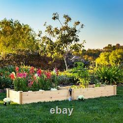 Products 8x2ft Outdoor Raised Wooden Garden Bed Planter for Grass