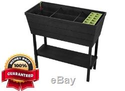Raised Elevated Garden Flower Plant Planter Bed Seed Starting Tray Self-watering