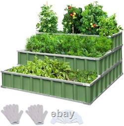 Raised Elevated Outdoor Flowers Vegetables Planter Garden Bed Grow Box Kit Green