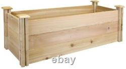 Raised Garden Bed 16 in. X 4 ft. X 16.5 in. Rectangle Cedar in Natural Finish