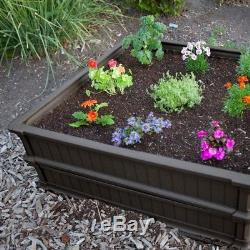 Raised Garden Bed 3 Pack Square Elevated Outdoor Gardening Box Stackable Planter