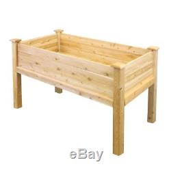 Raised Garden Bed 48 L x 24 W x 31 H Elevated Cedar Bed Kit Rustic Finish