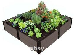 Raised Garden Bed 8 ft. X 8 ft. X 11 in. Weathered Wood Composite Expandable