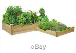 Raised Garden Bed Dovetail 3 Tier Planter Flowers Vegetables Home Outdoor Patio