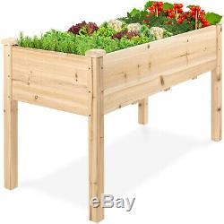 Raised Garden Bed Elevated Wood Garden Planter Stand for Vegetable Herb Outdoor