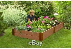 Raised Garden Bed Kit 4 ft. X 8 ft. X 11 in. Expandable Classic Sienna Composite