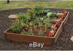 Raised Garden Bed Kit 42 x 84 x 8 Recycled Materials Make Gardening Easy