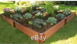 Raised Garden Bed Kit 8 ft. X 8 ft. X 11 in. Classic Sienna Composite Expandable