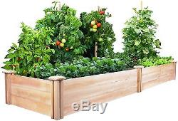 Raised Garden Bed Kit Cedar Plants Natural Rot Backyard Flower Insect Resistant