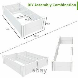 Raised Garden Bed Kit Planter Box Outdoor for Grow Vegetables 45''x22.5'