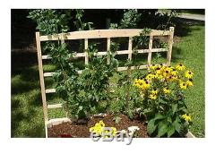 Raised Garden Bed Kit With Trellis Durable Solid Fir Wood 4 ft. X 4 ft. X 11 in