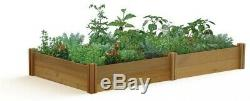 Raised Garden Bed Modular Natural Western Red Cedar Unfinished, 48 x 95 x 13 in