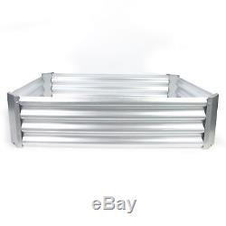Raised Garden Bed Plant Care Soil Growing Box Metal Corrugated with Lining Yard