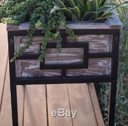 Raised Garden Bed Planter Box Wood Metal Container Gardening Herbs Vegetables