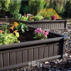 Raised Garden Bed Planter Vegetable Box Kit Patio Elevated Wood Gardening Square