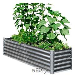 Raised Garden Bed Rectangle Galvanized Metal 22x40x17 Inch. Raised Planter Box