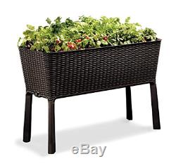 Raised Garden Bed With Self Watering Planter Box And Drainage Plug Brown 31.7gal