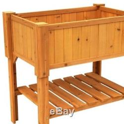 Raised Garden Bed Wood Planter Box Outdoor Planters Boxes Flower Vegetable Plant