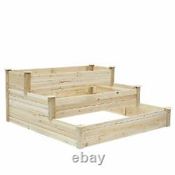 Raised Garden Bed Yard Patio Elevated Planter Box for Flowers Vegetables Herbs