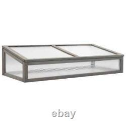 Raised Garden Bed with Greenhouse 47.2x21.3x47.2 Fir Wood