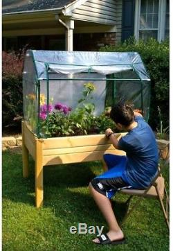 Raised Garden Elevated Bed Table Greenhouse Cedar Optional Enclosure 2 x 3 ft