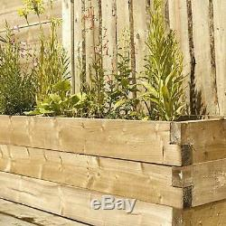 Raised Garden Plant Planter Decor Outdoor Wooden Planting Container Planters Bed