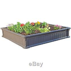 Raised Garden Planter Box 3pc 4x4' Kit Backyard Elevated Vegetable Flowers Bed