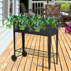 Raised Patio Garden Grow Box Kit Elevated Bed Planters Vegetables Herbs