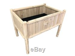 Raised Planter Box Elevated Kit To Grow Tall Garden Bed Grow Patio Flower Plant