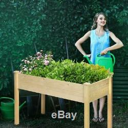 Raised Vegetable Garden Bed Outdoor Indoor with Elevated Grow and Planter Wooden