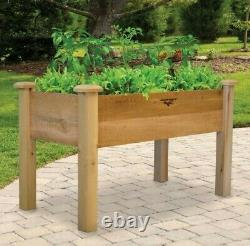 Rustic Elevated Garden Bed 24x48x32 9D Gronomics, new, easy assembly