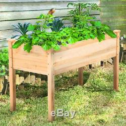 Rustic Elevated Raised Garden Bed Fresh Vegetable Flower Grow 47x23 Large Size
