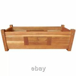 Rustic Large Wooden Raised Garden Bed Patio Grow Box Planters Vegetables Herbs