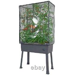 Self-Watering Raised Garden Bed with Trellis and Greenhouse Cover Planter Box