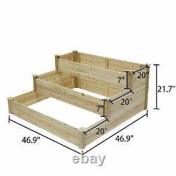 Set of 2 Raised Vegetable Planter Grow Herbs Box Heavy Duty Elevated Garden Bed