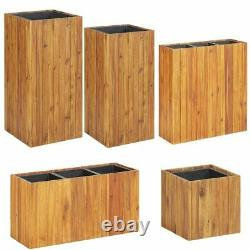 Solid Acacia Wood Garden Planter Outdoor Flower Box Pot Holder Raised Bed Brown