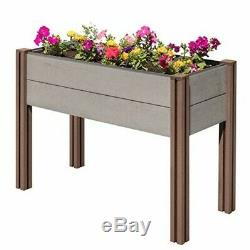 Stratco Wood Plastic Composite Elevated Garden Bed -48 (L) X 20(W) X 32(H)