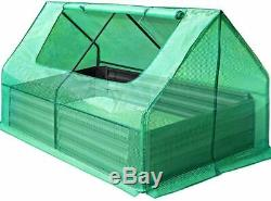 Thick Galvanized Steel Raised Garden Bed Greenhouse Eco Yard Planter Kit Box